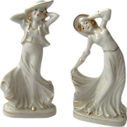 SALE Pair of Occupied Japan Dancing Lady Figurines