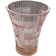 Lovely Pink Depression Glass Vase
