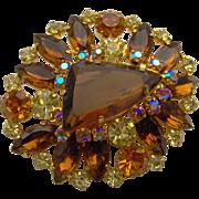SALE Large Amber Brooch