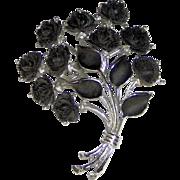 SALE Black Roses brooch by J.J.