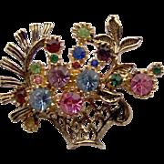 SALE Basket of Flowers Brooch