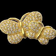 SALE Butterfly Brooch by NAPIER