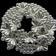 SALE Silver-tone Wreath Brooch by Coro