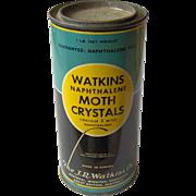 Watkins Naphthalene Moth Crystals tin