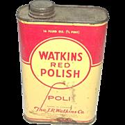 Watkins Red Polish Tin
