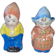 Colorful Dutch Children Salt and Pepper Shakers