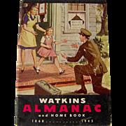 SALE 1945 Watkins Almanac and Home Book