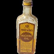 Watkins Machine Oil Bottle