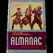 SALE 1944 Watkins Almanac Home Book