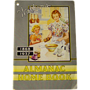 SALE 1937 Watkins Almanac Home Book
