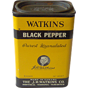 J. R. Watkins Black Pepper tin