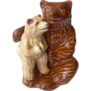 Mama and baby bear salt and pepper shakers