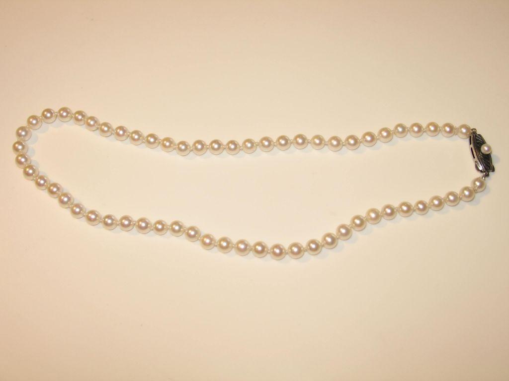 Circa 1950s Mikimoto Vintage Mikimoto Cultured Pearl