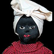 SOLD Beecher-Type Black Stockinette Cloth Doll circa 1890