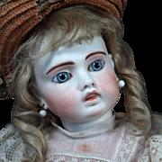 """Sonneberg Bru-Faced """"Belton"""" Bisque Doll, 18"""""""