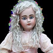 Helen ~ Light Ash Blond Mohair Wig No Bangs (Size 10-11)