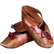 Good Quality Antique Leather Doll Shoes