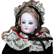 Petite French Fashion Doll as Christmas Caroler