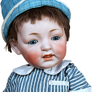 """JD Kestner 211 """"Sammy"""" German Bisque Baby 17.5 inches"""