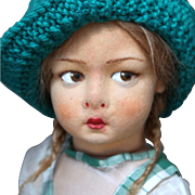 Italian Felt Character Girl Model 110 by Lenci