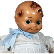 """Cheerful Cherub "" Composition Kewpie Baby Doll by J. Kallus"