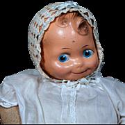 """Cheerful Cherub "" Composition Kewpie Baby Doll by J. Kallus"