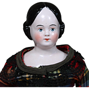 German  Covered Wagon China in Fabulous Plaid Dress