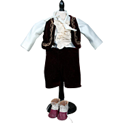 "Lord Fauntleroy Costume for 16"" Doll"