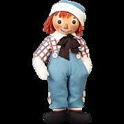 R. John Wright 2004 Premiere Edition Raggedy Andy Felt Doll #241/1000 NIB