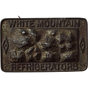 Great Old White Mountain Refrigerators Cast Iron Advertising Paperweight