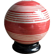 Great Antique Striped Carpet Bowling Ball