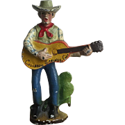 """SOLD Wonderful Vintage Cast Iron """"Cactus Pete"""" Western Cowboy Souvenir Bottle Opener"""