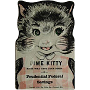 1954 Prudential Federal Savings Dime Kitty Book w/30 Dimes Pre 1964