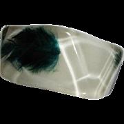 Vintage Lucite Bangle Bracelet w/ Feathers