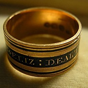 A Georgian 18ct Gold & Enamel Mourning Ring. Circa 1812.