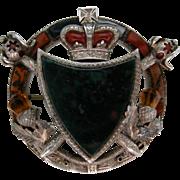 A Victorian Sterling Silver Scottish Pebble Brooch. Circa 1880.