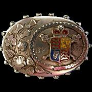 A Victorian Sterling Silver Golden Jubilee Brooch. Circa 1887.