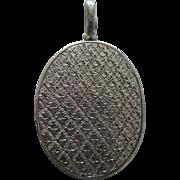 A Victorian Sterling Silver Locket. Circa 1880.