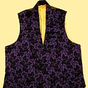 A Mid-19th Century Man's Silk Waistcoat. Circa 1845-50.
