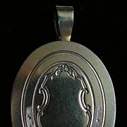 A Victorian Silver-Gilt Mourning Locket. Circa 1865.