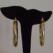 Gold-Tone Pierced Hoop Earrings