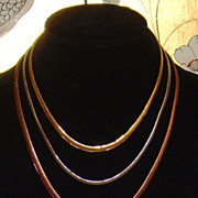 ⓒMonet Tri-Colored Multi-Strand Serpentine Chain