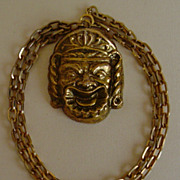 Kenneth Lane  Gold-Tone Tribal Style Necklace