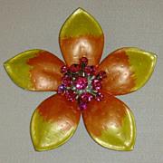 Five Petal Metal Flower Belt Buckle