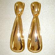 Gold-Tone Dangle Clip-On Earrings