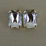 Gold-Tone and Clear Acrylic Clip-On Earrings
