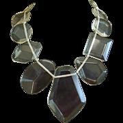 Clear Lucite Massive Bib Necklace