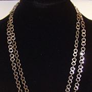 Silver-Toned Interlocking Heart Necklace