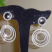 Triple Circle Dangle Earrings