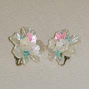Flower Garden Clip-On Earrings